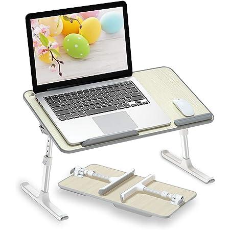 SRICA 折りたたみ式 ノートパソコンスタンド ローテーブル パソコンデスク 折りたたみテーブル PCデスク ベッドテーブル 軽量 ラップデスク 省スペース 高さ 角度調節可