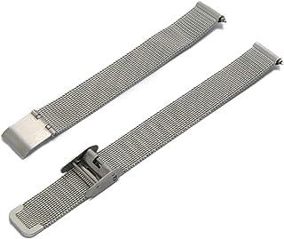 CASSIS[カシス] ステンレススチール 時計ベルト ANGERS アンジェ 12 mm シルバー 交換用工具付き U1027304012012