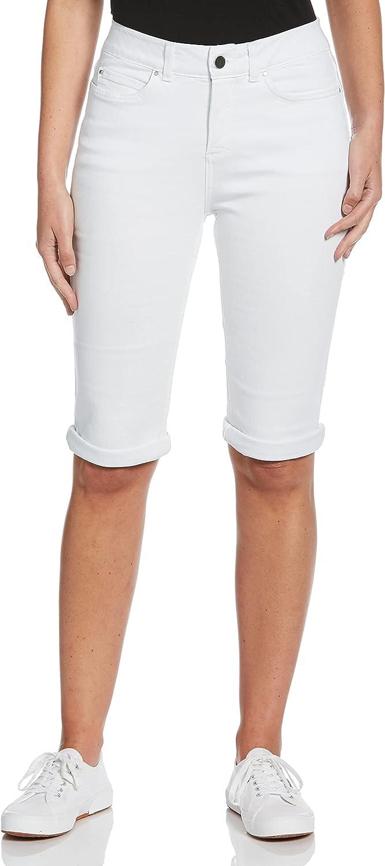 Rafaella Be super welcome Women's White Denim Short Cuffed gift Bermuda