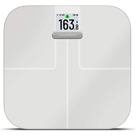 Garmin Index S2, Smart Scale with Wireless Connectivity, Measure Body Fat, Muscle, Bone Mass, Body Water% and More, White (010-02294-03)