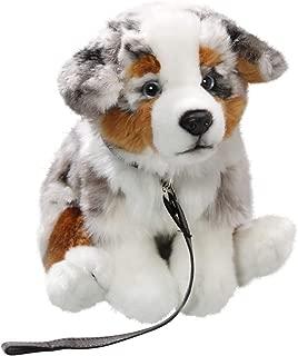 Carl Dick Australian Shepherd Dog with Lead 10.5 inches, 25cm, Plush Toy, Soft Toy, Stuffed Animal 3428