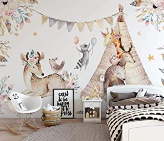 Papel Pintado Pared Parque De Animales Ciervos Diseño De Arte En 3D Decoración De La Sala De Estar Dormitorio TV Fondo Pared