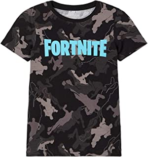 Name It Nkmfortnite Grey SS Top Box LIC T-Shirt Bambino