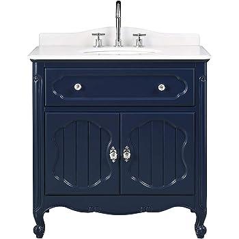 34 Knoxville Navy Blue Victorian Bathroom Sink Vanity Gd 1533nb Amazon Com