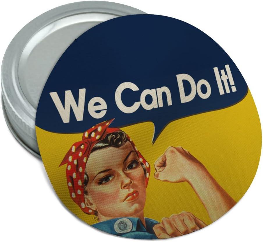 Rosie Fees free!! The Riveter War Poster Round Non-Slip Mesa Mall L Gripper Jar Rubber