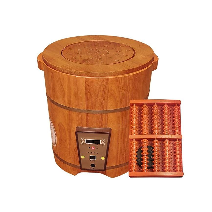 標準苦味プライムWei Jun フットバスバレル、フットバスバレル木樽暖房燻蒸フットバスバレル家庭用暖房恒温洗足式ハイディープバレル発泡盆地 /-/ (Size : 40cm)