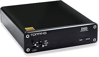 Topping DSD Audio Decoder, D30 USB Coaxial Optical Fiber Input, Xmos CS4398 Chip, Upto 24Bit 192Khz Decoder Black