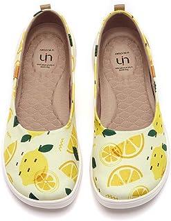 UIN Women's Ballet Flats Cute Floral Lightweight Slip On Art Painted Comfort Round Toe Shoes Summer Jungle