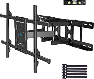 Full Motion TV Wall Mount Articulating Arms Swivel Tilt Rotation for Most 37-70 Inch OLED, LCD, LED Flat Curved TVs, Exten...