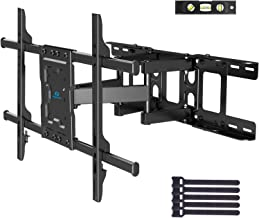 $49 » Full Motion TV Wall Mount Articulating Arms Swivel Tilt Rotation for Most 37-70 Inch OLED, LCD, LED Flat Curved TVs, Extension to 24 inch Wood Stud up to 132lbs Max VESA 600x400mm by Pipishell