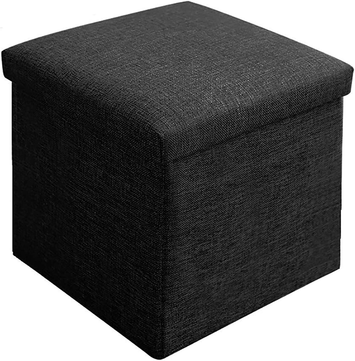 ChenDz Cute Stool Nordic Modern Minimalist shoes Bench Sofa Combination Small Square Stool Personality Foot Stool Light Luxury Living Room Fabric Stool (color   Black)