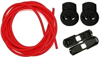 Neon Juego de cordones elásticos sin nudo (regulables y con cierre fácil, 80 cm)