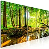 murando - Bilder Wald 200x80 cm Vlies Leinwandbild 5 TLG