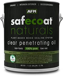 Afm Safecoat Naturals Penetrating Oil, Clear Gallon Can 1/Case