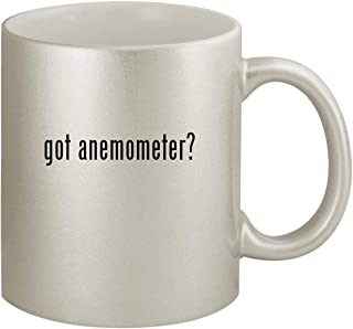 got anemometer? - Ceramic 11oz Silver Coffee Mug, Silver