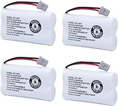 BT1007 BT-1007 BBTY0651101 Rechargeable Battery Compatible with Uniden BT904 BT-904 BT1015 BBTY0460001 BBTY0510001 BBTY0624001 BBTY0700001 Panasonic HHR-P506 HHR-P506A Cordless Phone(4 Pack)