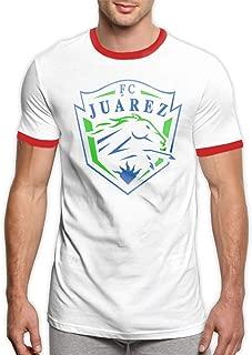OQWIOO FC Juarez Bravos Mexico Men's Ringer Tee Shirt