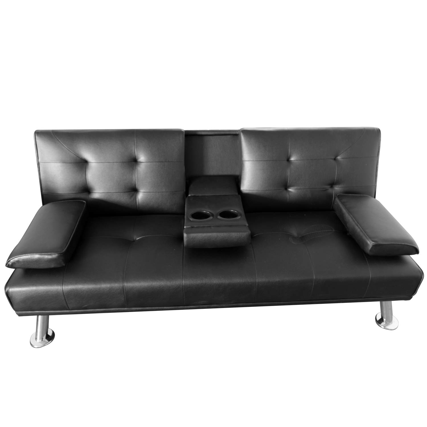 - Flamaker Convertible Futon Sofa Bed Modern Faux Leather Couch