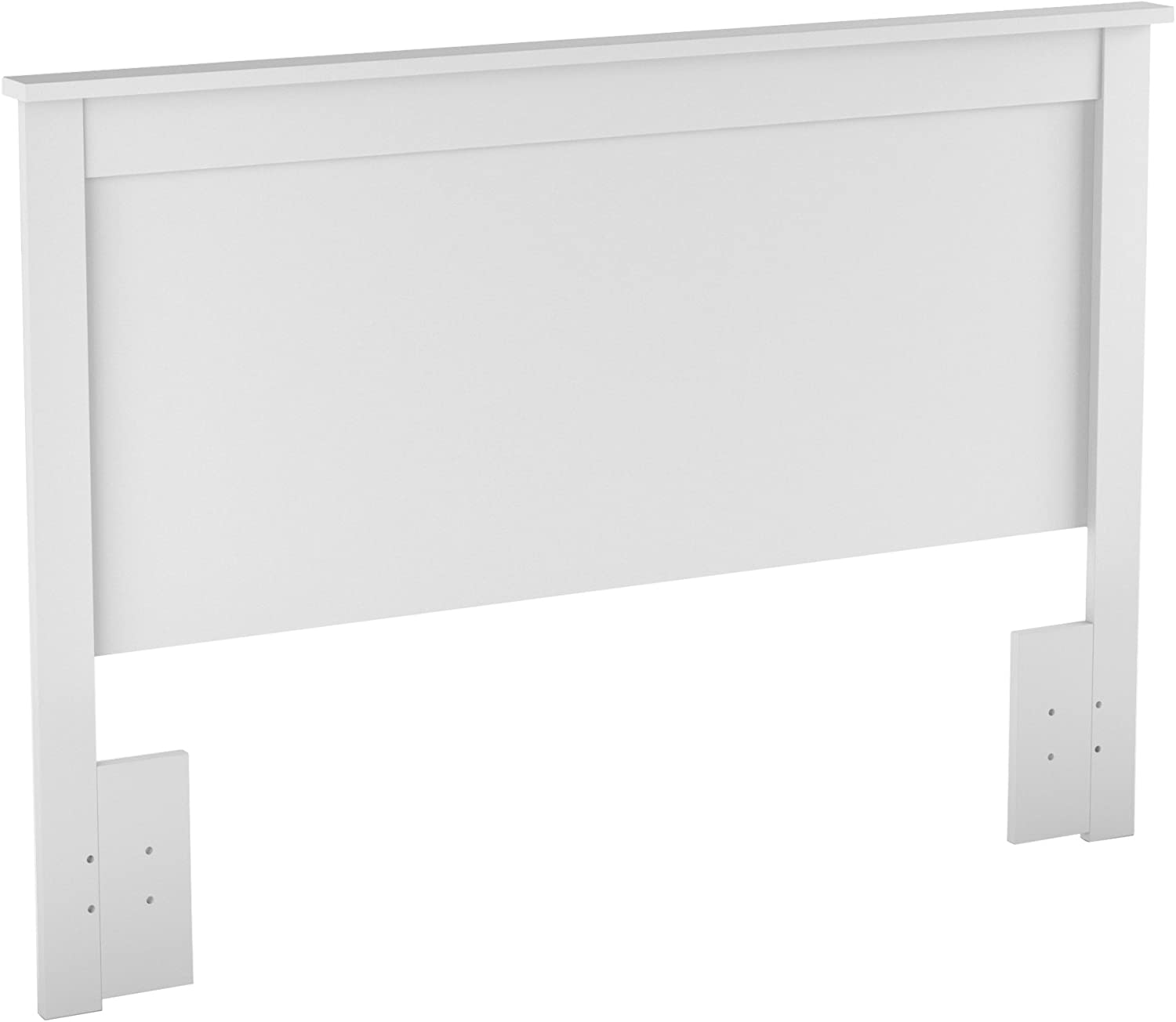 South Shore Furniture Vito Collection, 54 by 60-Inch Full Queen Headboard, Pure White