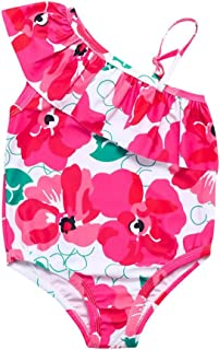 cc0503d50c5 TiTCool Toddler Baby Girls Swimsuit One Piece Bathing Suit Daisy Beach Cute  Ruffle Floral One Shoulder