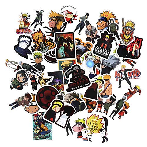 gerFogoo Naruto Stickers Naruto Stickers for Laptop,Cars,Motorcycle,Bicycle,Skateboard Luggage,Naruto Stickers for Teens, Best Gift for Kids Children 50pcs/Set(Multi)