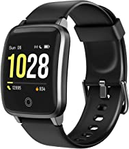"""LETSCOM Smart Watch, Fitness Trackers with Heart Rate Monitor Step Calorie Counter Sleep Monitor, IP68 Waterproof Smartwatch 1.3"""" Color Screen, Activity Tracker Pedometer for Women and Men"""