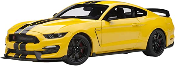 Ford Mustang Shelby GT-350R Triple Yellow with Black Stripes 1/18 Model Car by Autoart 72932