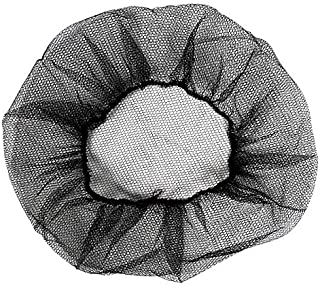 100 Pack Disposable Black Nylon Hairnets 24
