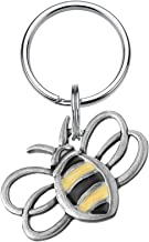 product image for DANFORTH - Bumblebee Keyring - 1 3/4 Inches - Pewter - Key Fob - Handcrafted - Made in USA