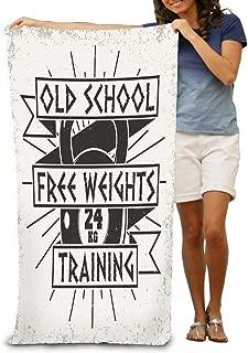 YILINGER Bath Towels Vintage Grange Stamp Fitness Emblem Gym Sports Logo Beach Towels 31.5