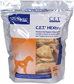 Virbac C.E.T. HEXtra Premium Oral Hygiene Chews (Packaging May Vary)