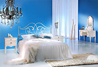 Leyiyi Bedroom View Backdrop 7x5ft Photography Backdrop Retro Royal Doule Bed Dressing Table Romantic Pendant Lamp Wool Carpet Lovers Room Decor