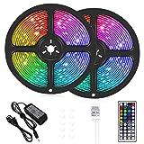 LED Strip Lights, 32.8 ft RGB Led Light Strip 600 LED 5050 SMD IP65 Waterproof...