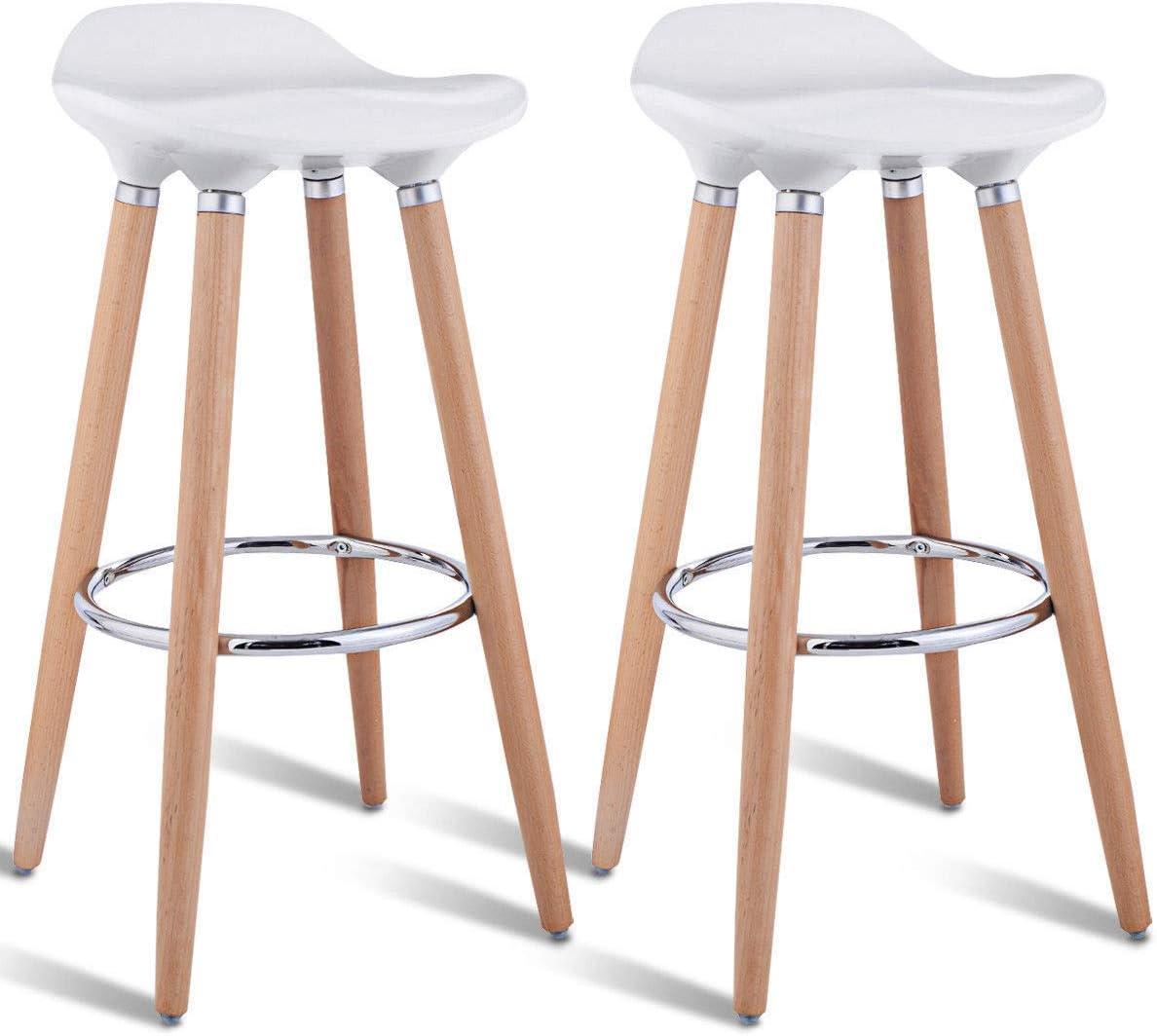 Buy AK Energy Set of 9 White ABS Bar Stool Breakfast Barstool ...