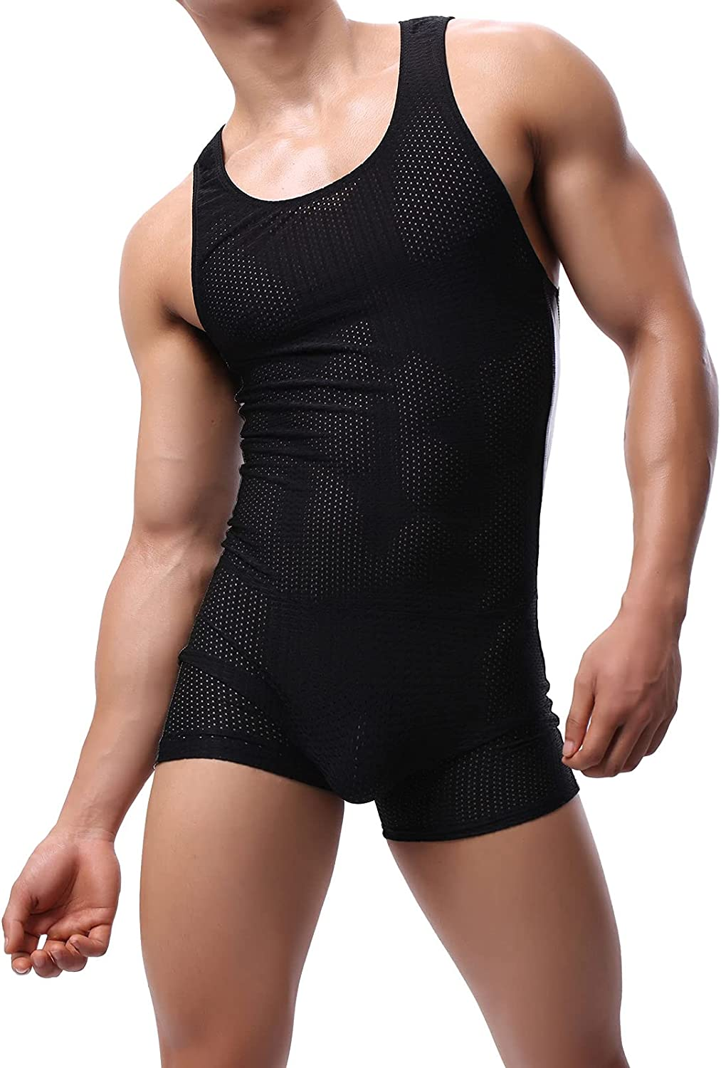 Oakland Mall QiaTi Mens Athletic Supporters Weekly update Wrestling Boxers Sport B Jumpsuit