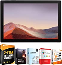 Microsoft VDV-00001 Surface Pro 7 12.3-inch Touch Intel i5-1035G4 8GB/128GB, Platinum Bundle with Elite Suite 18 Standard Editing Software Bundle and 2 Year Extended Warranty