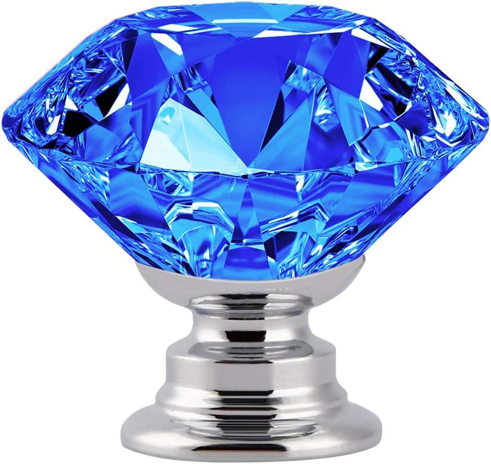 12 tiradores con forma de diamante (ver medidas) azul