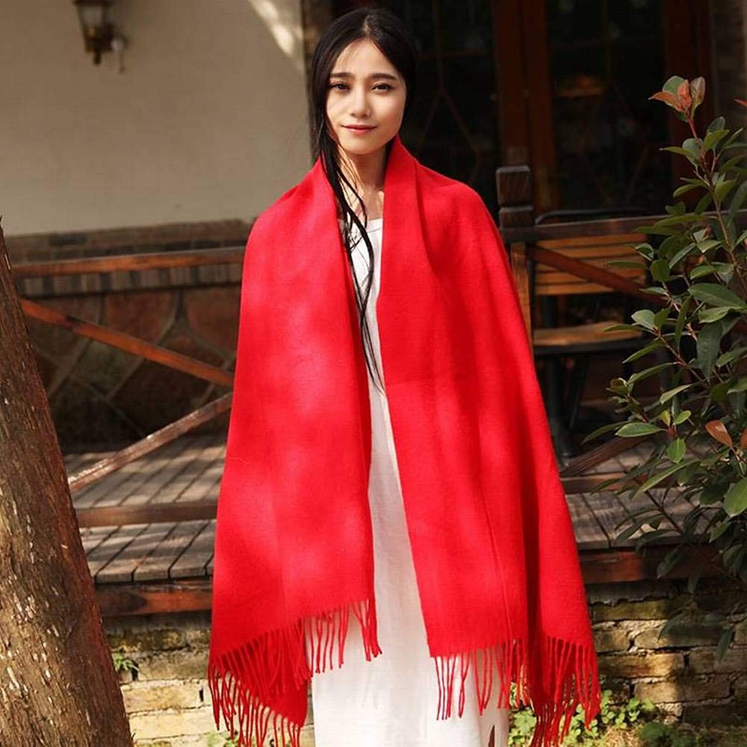 WJL Elegant Ladies Crocheted Wool Women Warm Flowers Long Scarf and Winter Outdoor MultiPurpose Fgreyion Trend Wild Warm Shawl Scarf Gift