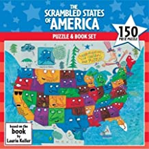 150 Piece Scrambled States of America Puzzle and Book