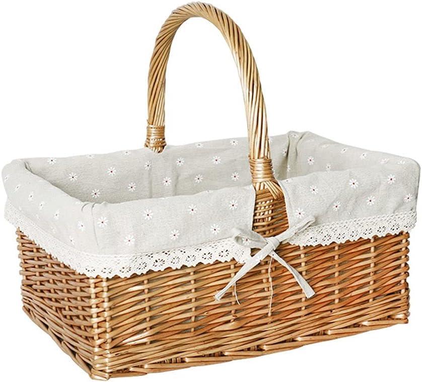 Storage Baskets Woven Flower Hand-held sale Basket Quantity limited
