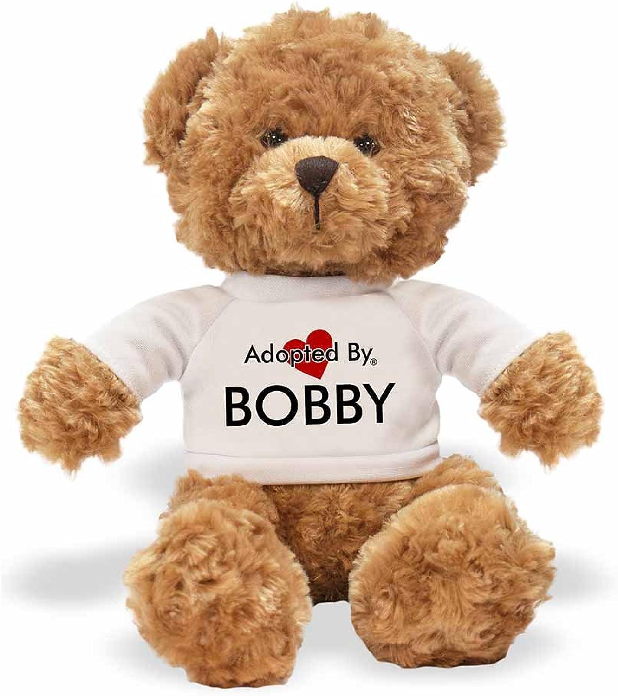 AdoptedBy Tb1Bobby Teddy orso Che Indossa Una t-Shirt Personalizzabile con Nome
