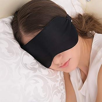 JEFlex Natural Silk Sleep Mask Blindfold, Super-Smooth Eye Mask