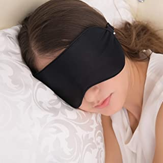 Antifaz para Dormir, JEFlex Seda Natural Blindfold Mascara