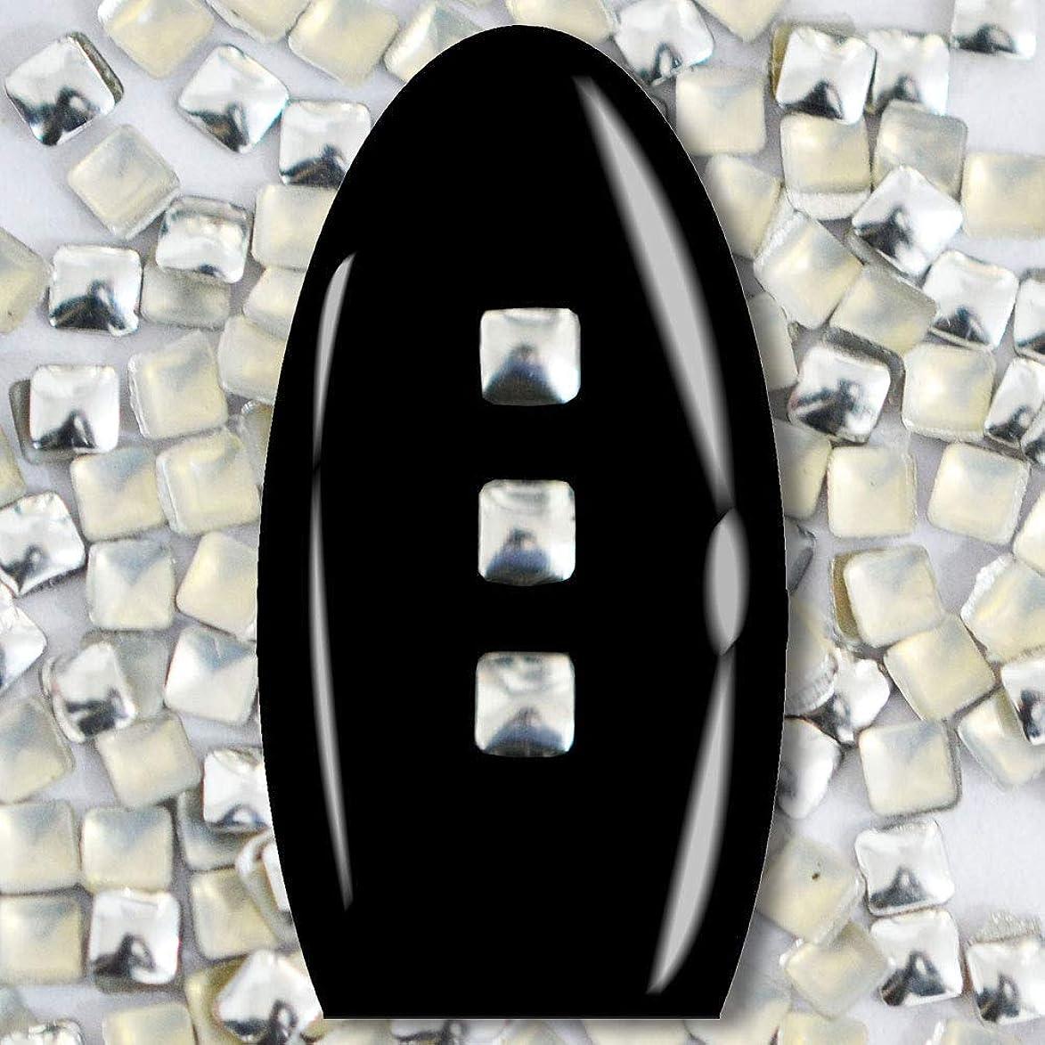 家具うがい薬りんごメタルスタッズ ネイル用 100粒 STZ016 スクエア シルバー 2mm