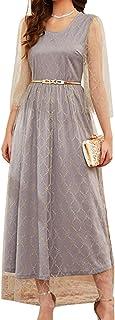 FridayIn women's Floral Fashion long dresses
