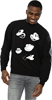 Disney Men's Mickey Mouse Faces Sweatshirt