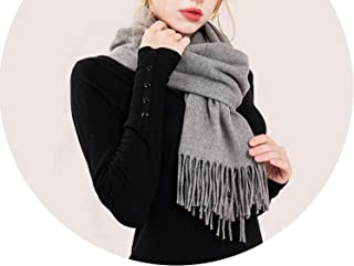 Thick Scarf Women Solid Color Imitation Cashmere Scarf Fringe Bib Autumn and Winter