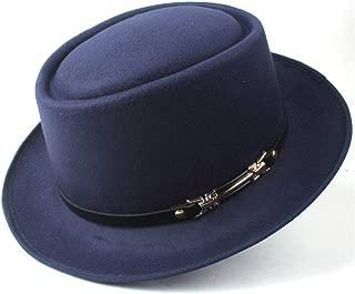 2019 Mens Womens Hats Unisex Men Women Flat Top Pop Church Soft Autumn Winter Fashion New Pork Pie Hat with Leather Belt Outdoor Casual Hat Panama Hat Adult Hat Outdoor Wild