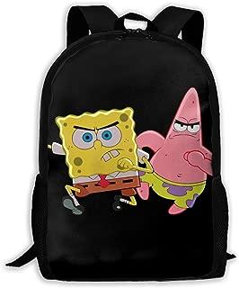 Custom Patrick Star and Spongebob Casual Backpack School Bag Travel Daypack Gift