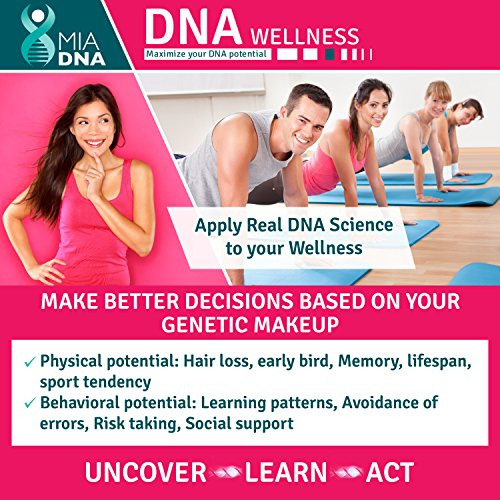 Home DNA Test Kit for Wellness - MiaDNA's State of The Art and Affordable Personal Genetic Test I...